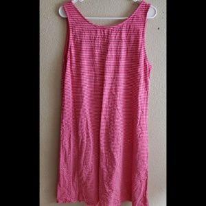 fresh produce Dresses - Fresh Produce XL Pink Striped Sleeveless Dress